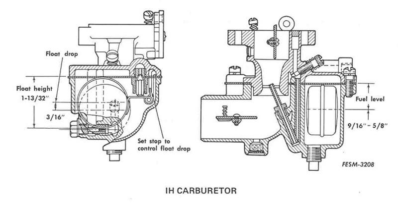 farmall h carb diagram