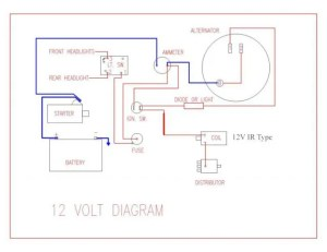 Wiring Diagram for Key Start & 12 Volt Alternator Conversion  Farmall Cub