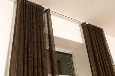 how to convert tab back curtains to