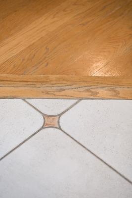 how to install hardwood floors against