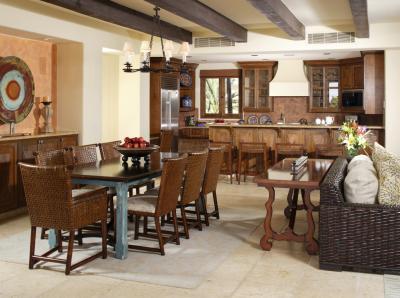 500 feet living room kitchen