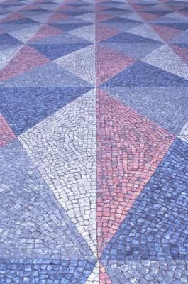 installing mosaic tiles on a floor