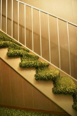 How To Make Stair Treads With Carpet In The Middle Home Guides | Stairs With Carpet In The Middle | Runner Corner | Laminate | Contemporary | Run On Stair | Marble
