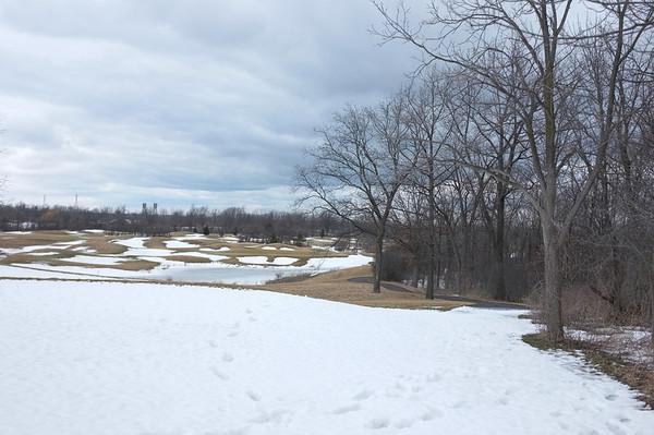 Passing through a golf course