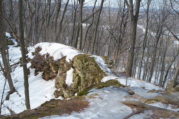 Icy conditions on the trail, it was an interesting downhill slide
