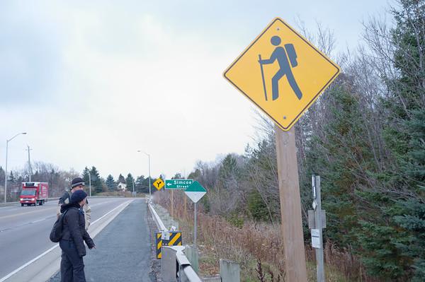 Hiker Crossing!
