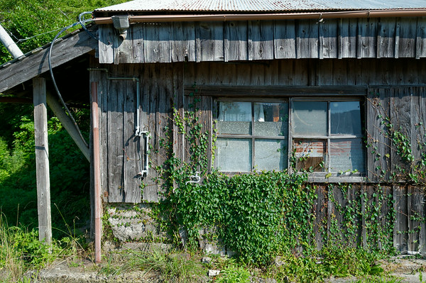 More dilapidated structures.  Not sure if someone is living in here.