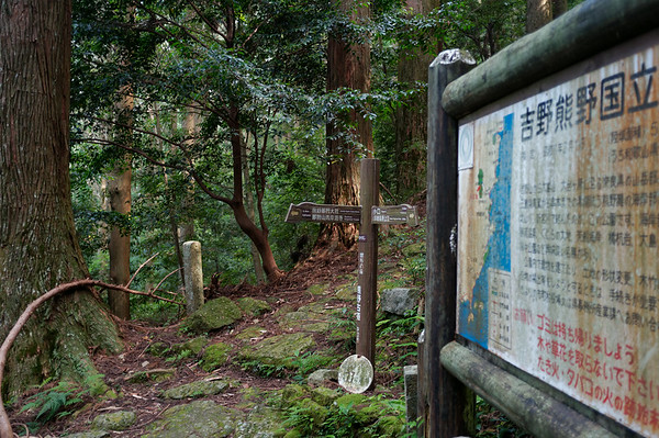 I think this is a large sign explaining or describing the area around Nachi-san and the Kumano Kodo trail.