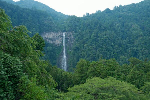 A beautiful view of Nachi-no-taki waterfall from Seiganto-ji.