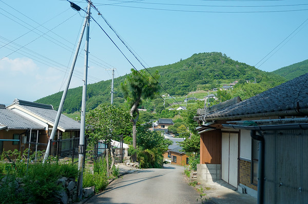 A view of the mountain village.