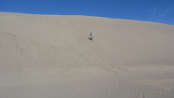 Yours truly, sandboarding for the second time