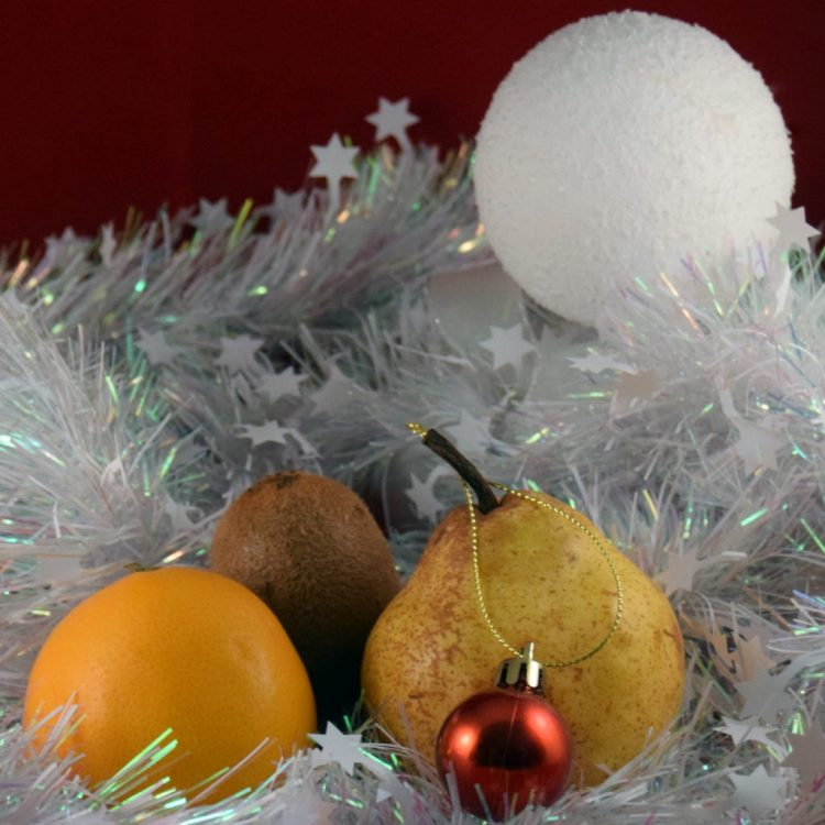 Poire, kiwi et orange de Noël