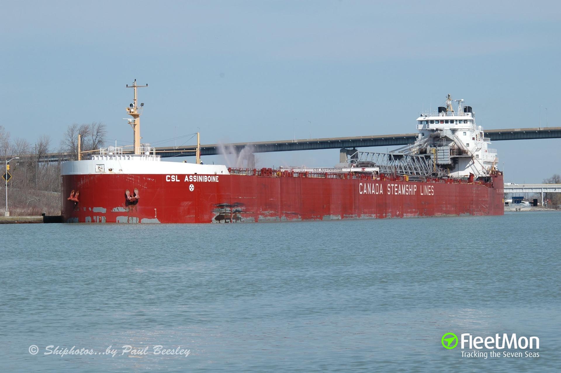 Photo of CSL ASSINIBOINE (IMO: 7413218. MMSI: 316001633. Callsign: VCKQ) taken by Shiphotos