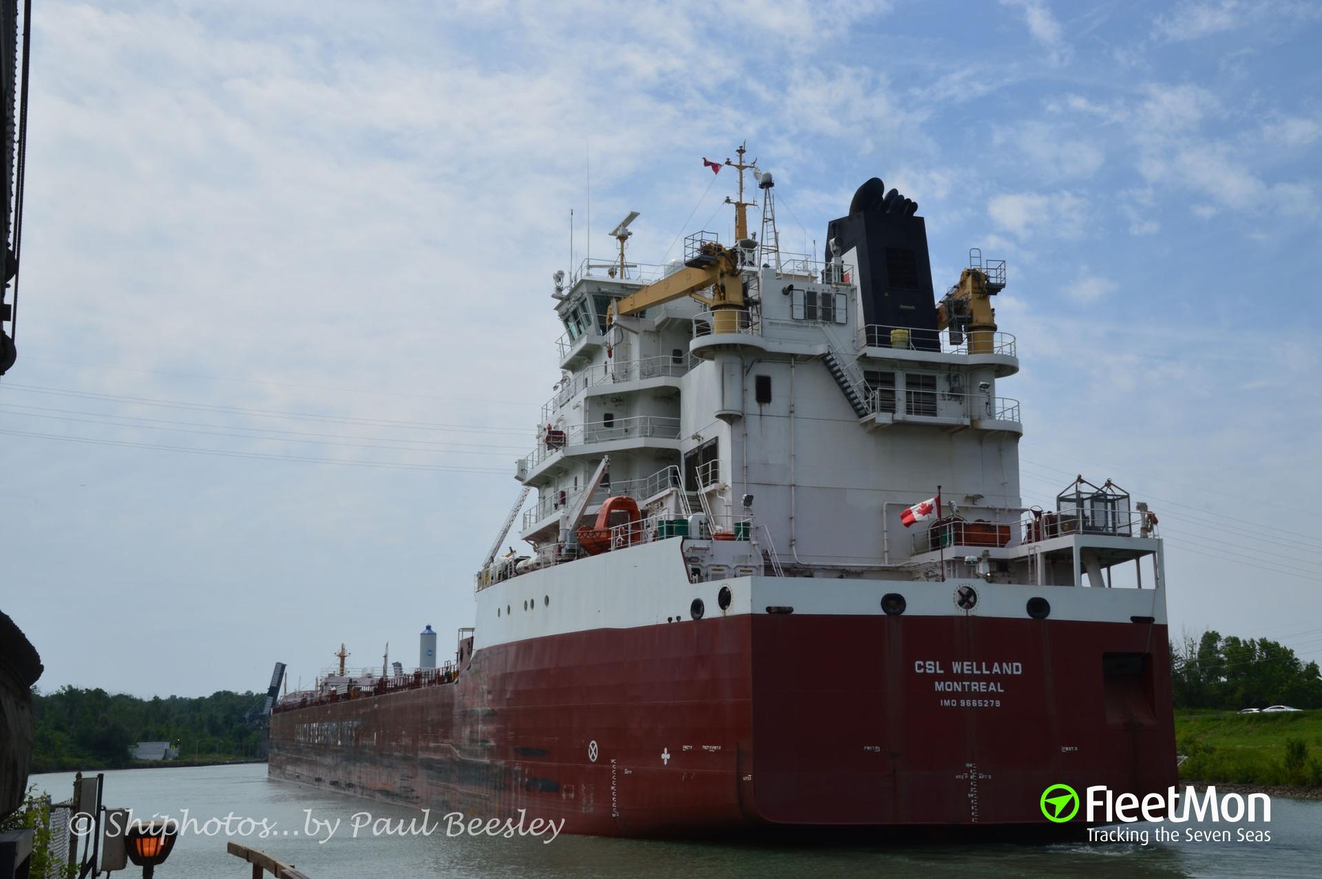 Photo of CSL WELLAND (IMO: 9665279. MMSI: 316026695. Callsign: CFK5151) taken by Shiphotos