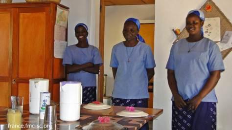 De gauche à droite : Justine, Jocelyne et Nadège