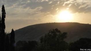 Couché de soleil sur l'Atacora.