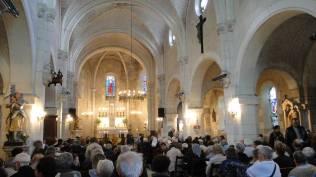 Messe présidée par Mgr Maillard