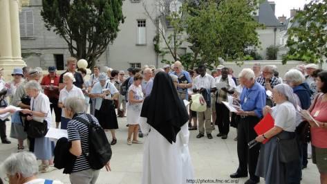 Parcours jubilaire de l'année St Martin avec une Soeur du Sacré Coeur de Montmartre