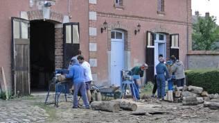 rangement du bois coupé