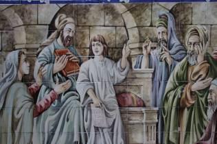 joie de voir les azulejos qu'un collègue avait peint durant que je travaillais à Quinta do Anjo
