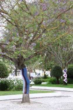 Déco des arbres par une association locale