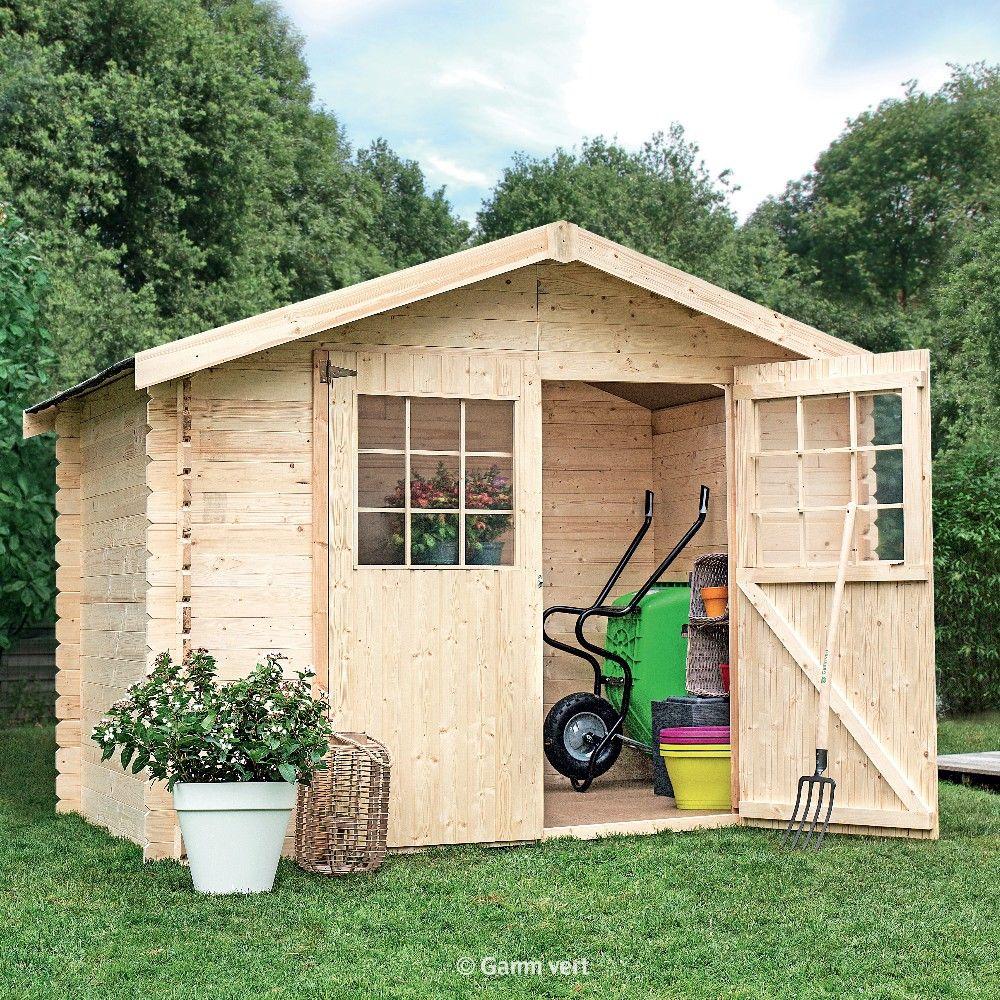 Abri de jardin en bois 675 m Ep28 mm Flodova Palette 210 x 1 x 058 m  Gamm Vert