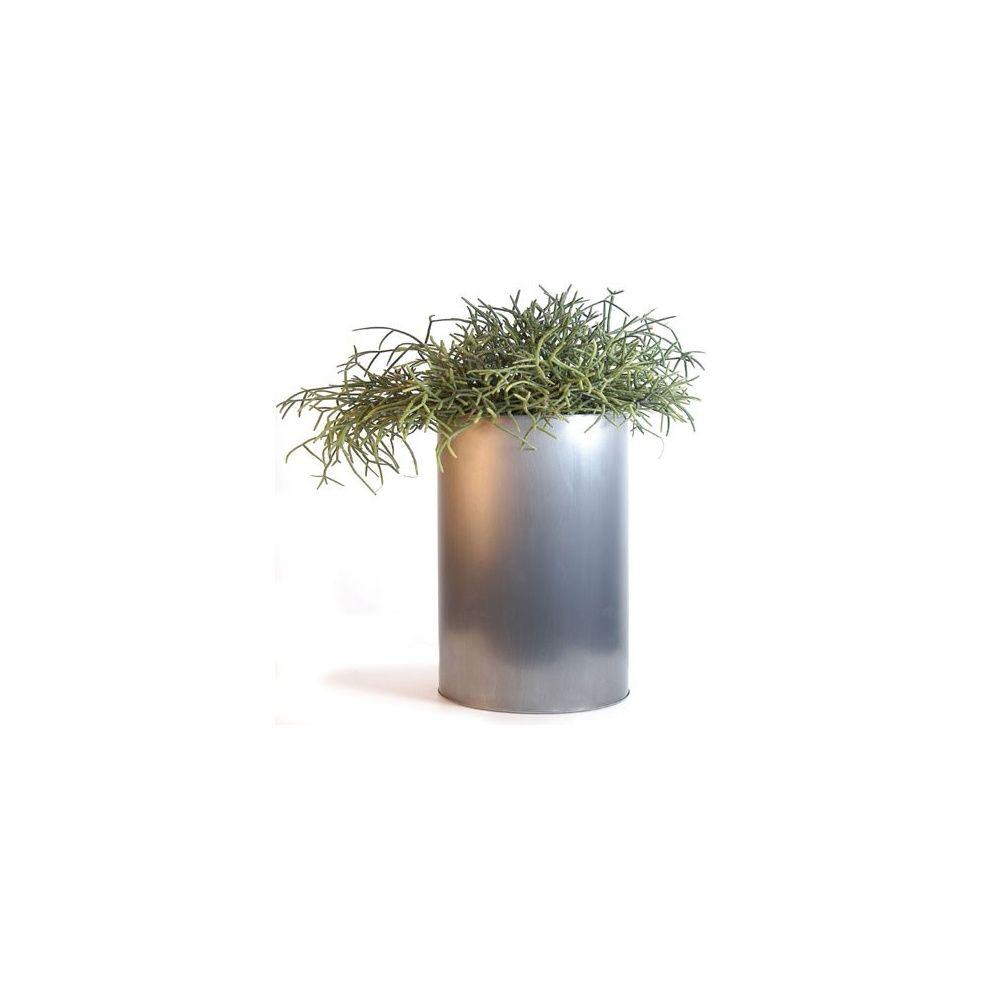 pot cylindrique en zinc 21 litres diametre 23 cm hauteur 50 cm