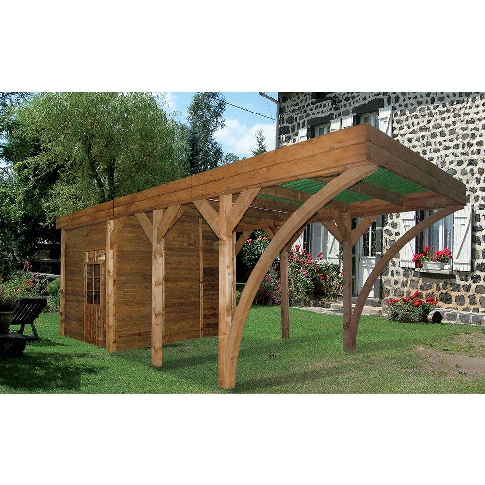 carport remise bois traite aymar 24 39 m