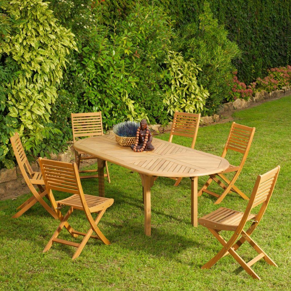 Salon De VertTable Luxe Basse Jardin Teck Gamm En Y6ybf7vg
