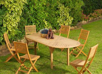 Table Jardin En Teck Grande Taille   La Nouvelle Collection De Salon ...