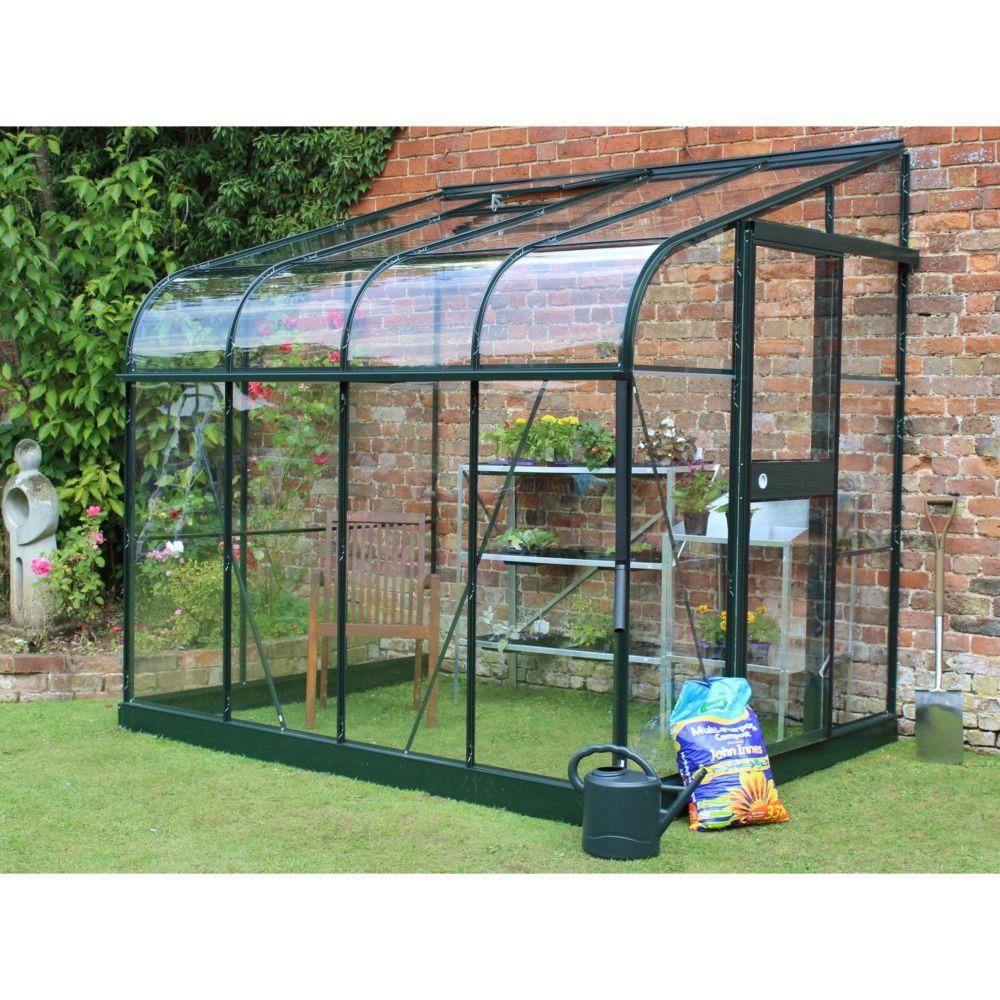 Serre de jardin adosse Silverline 48 m verre tremp  Halls 4 colis  L 299 x l 40 x H 11 cm