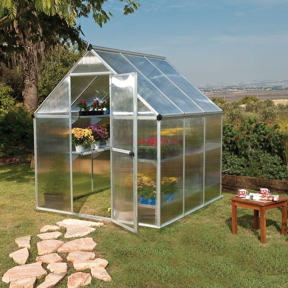 serre de jardin mythos polycarbonate 3 40 m embase ouverture automatique offerte palram