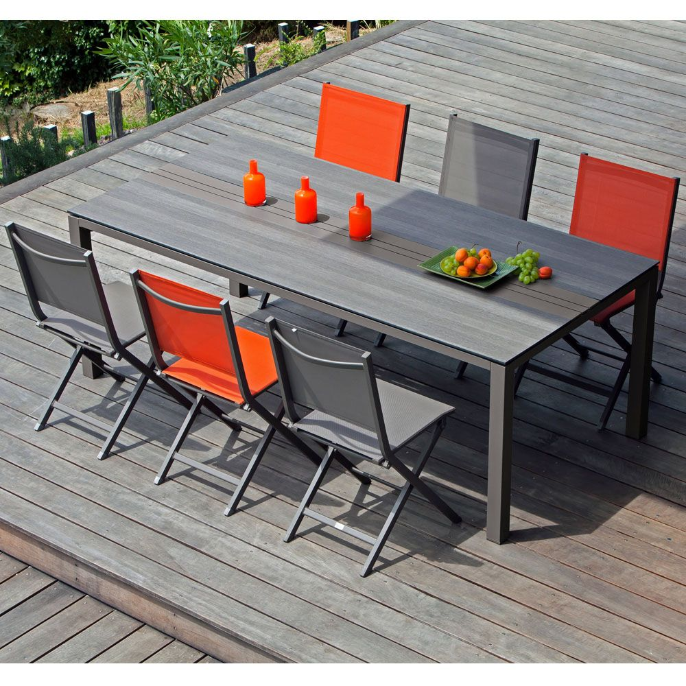 Table Exterieur Hpl   Table Extensible Twig Lattes Hpl Bois ...