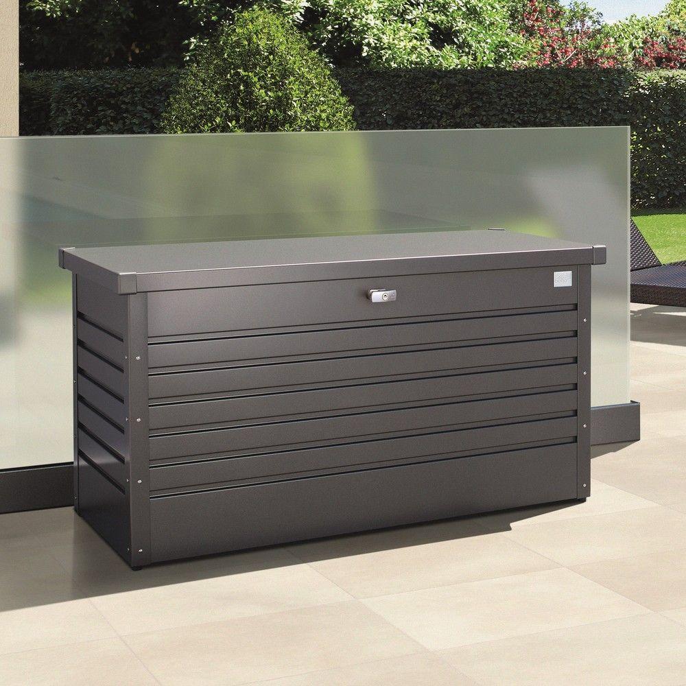 Coffre de jardin 830L Biohort gris fonc 160 x 83 x 79 cm  Gamm Vert