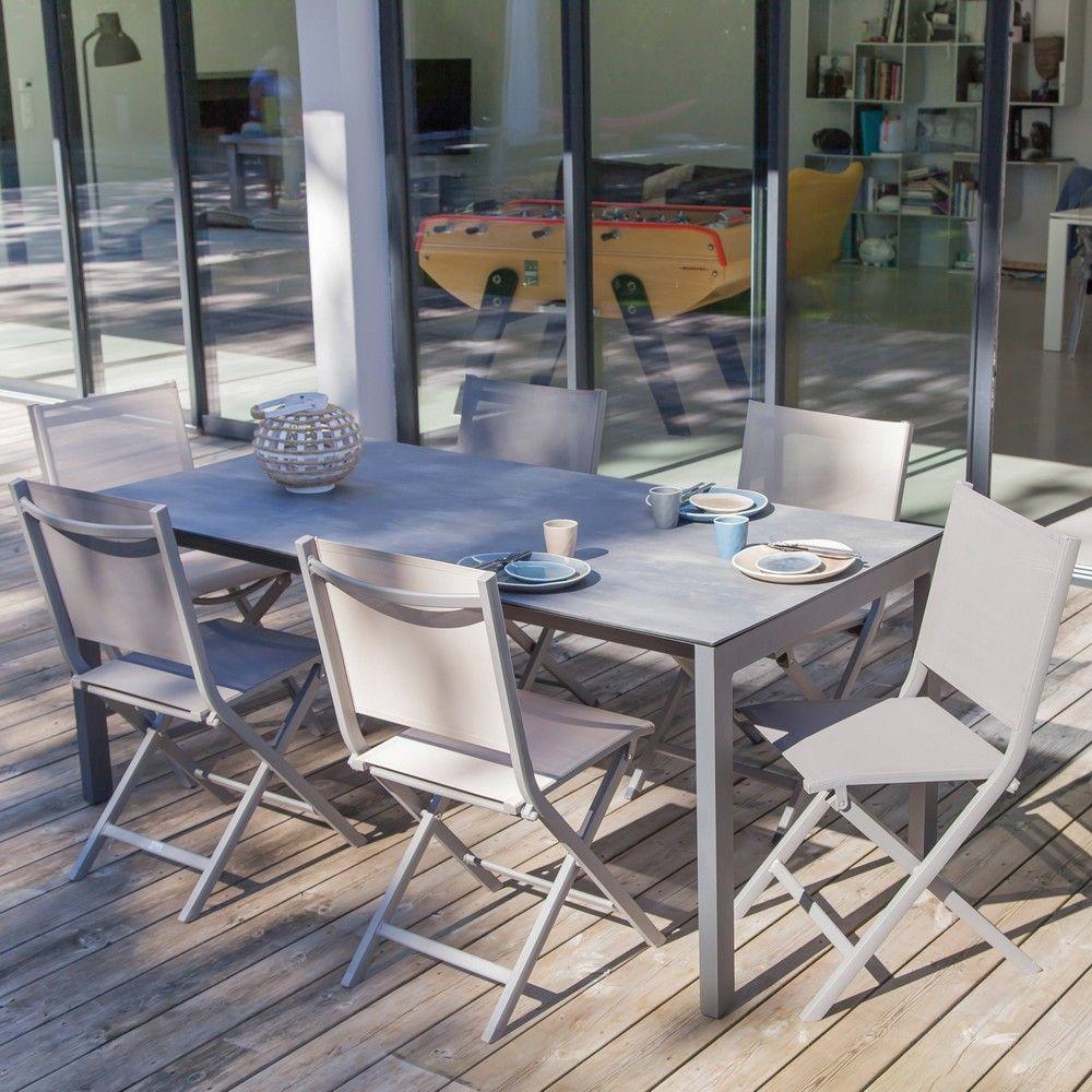 Table Exterieur Hpl | Table Extensible Twig Lattes Hpl Bois ...