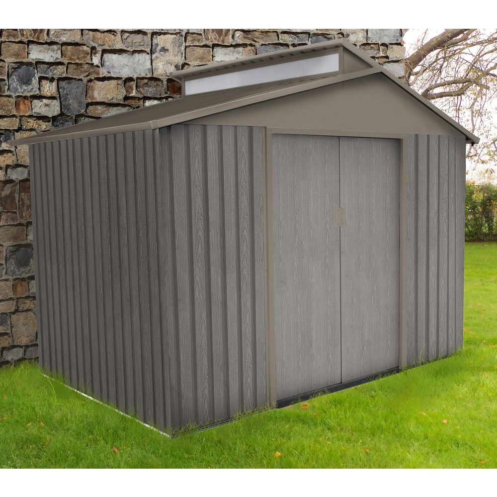 abri de jardin metal aspect bois 5 44 m ep 0 30 mm