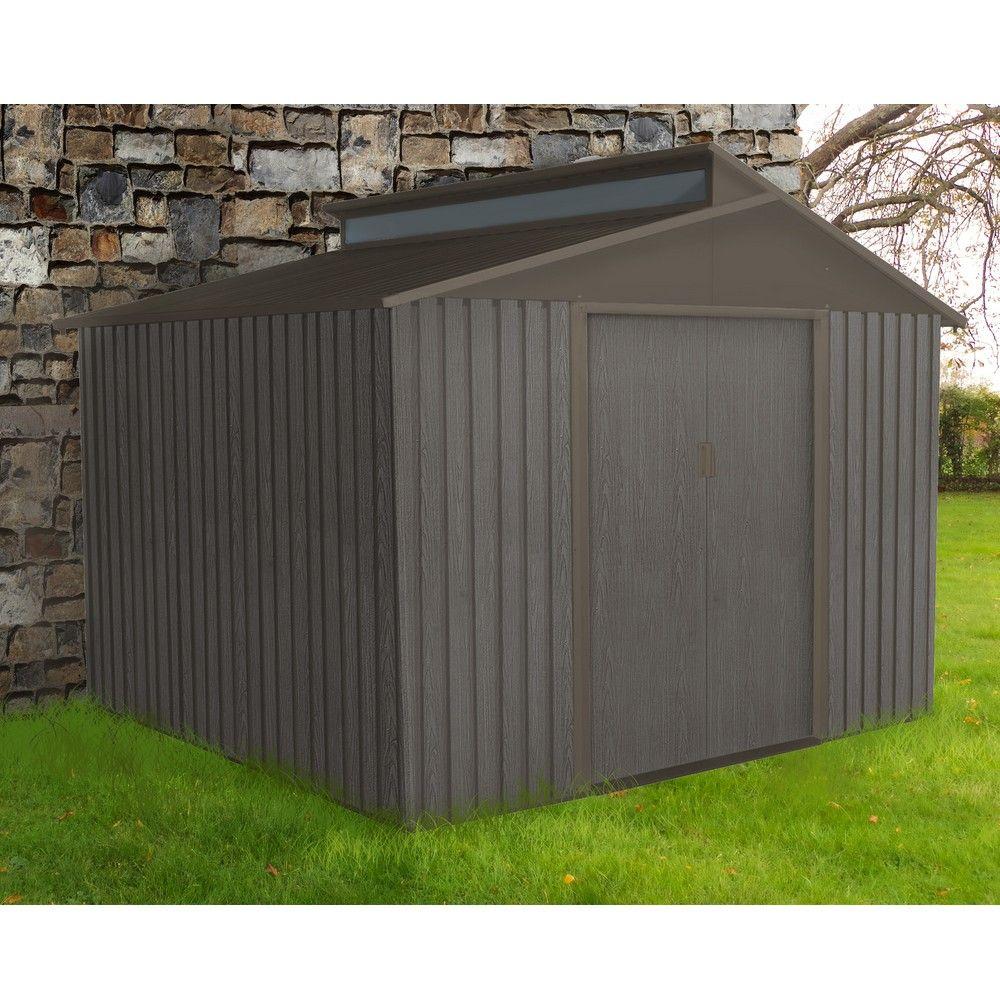 abri de jardin metal aspect bois 7 25 m ep 0 30 mm
