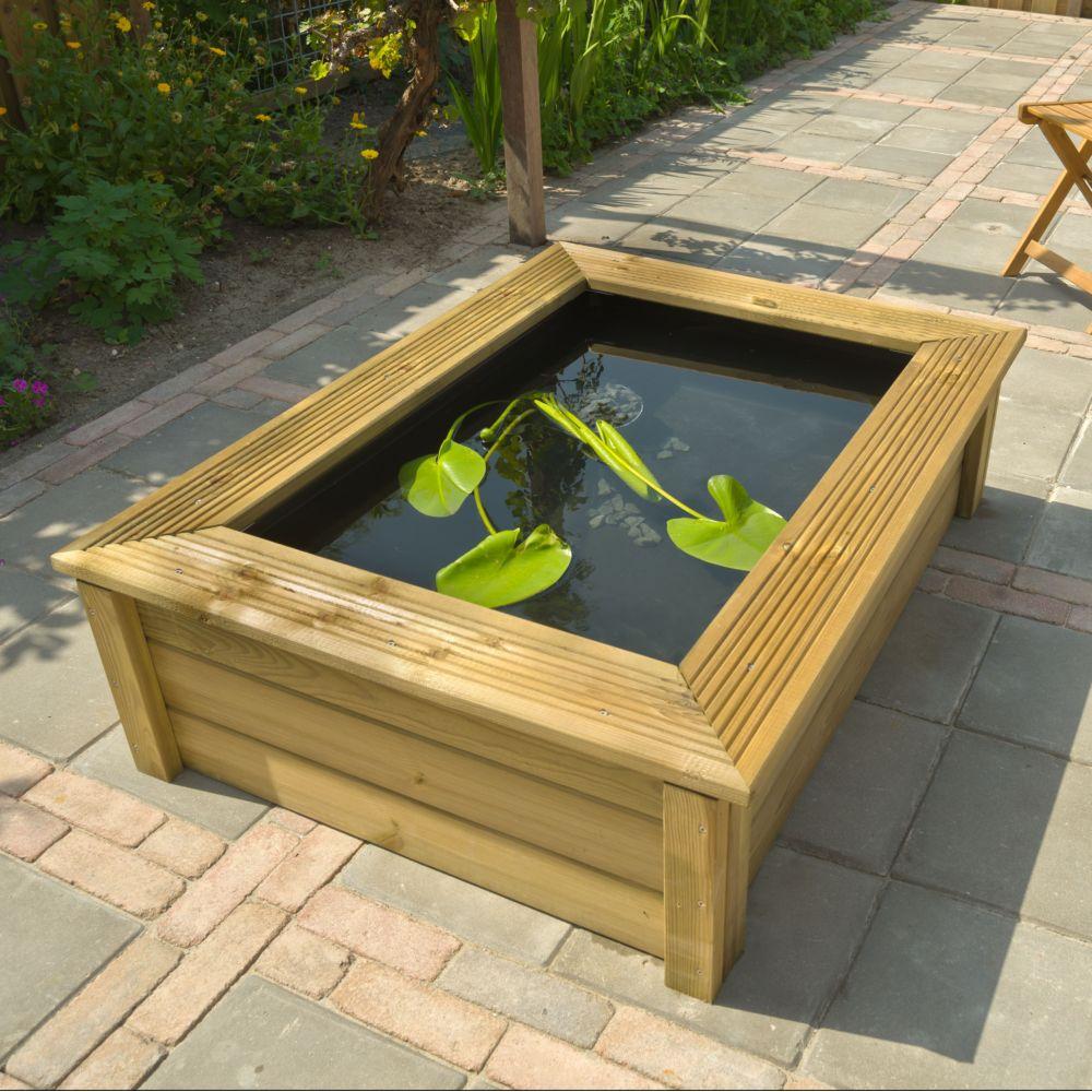 kit bassin quadra wood i 225 l ubbink