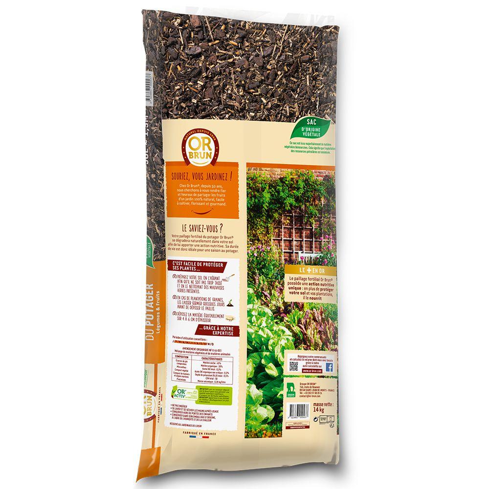 paillage fertilise du potager 50 l or brun