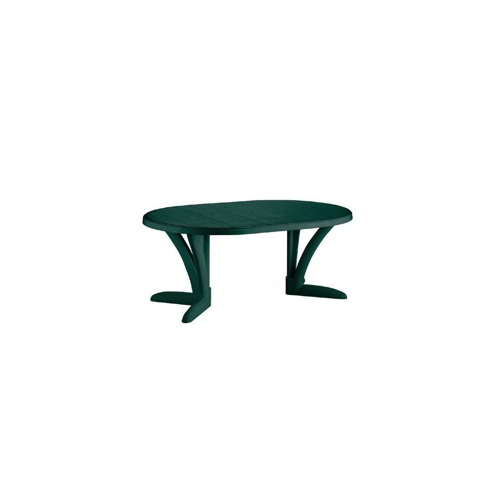 table de jardin ovale butterfly verte