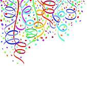 streamers and confetti clip art