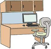 cubicle clip art - royalty free