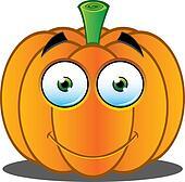 pumpkin face clip art - royalty