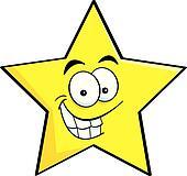 royalty free shining star clip