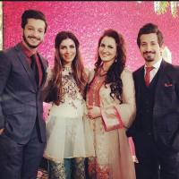 Pakistani actress with her family