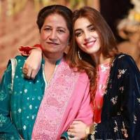 Maya Ali with her mother