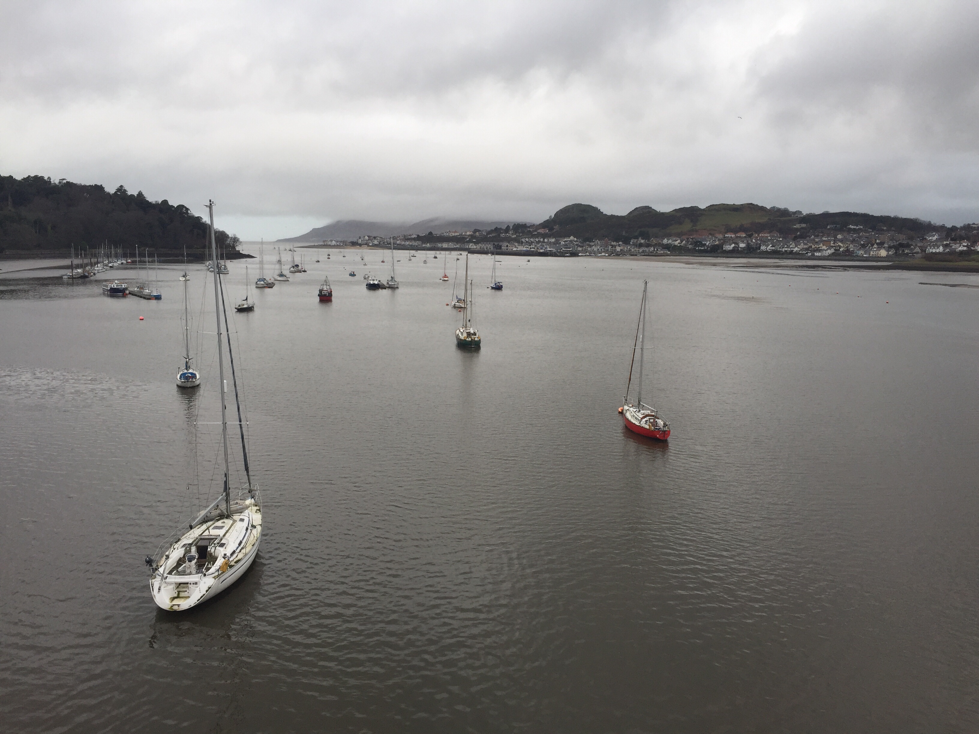 Clouds Over Conwy River