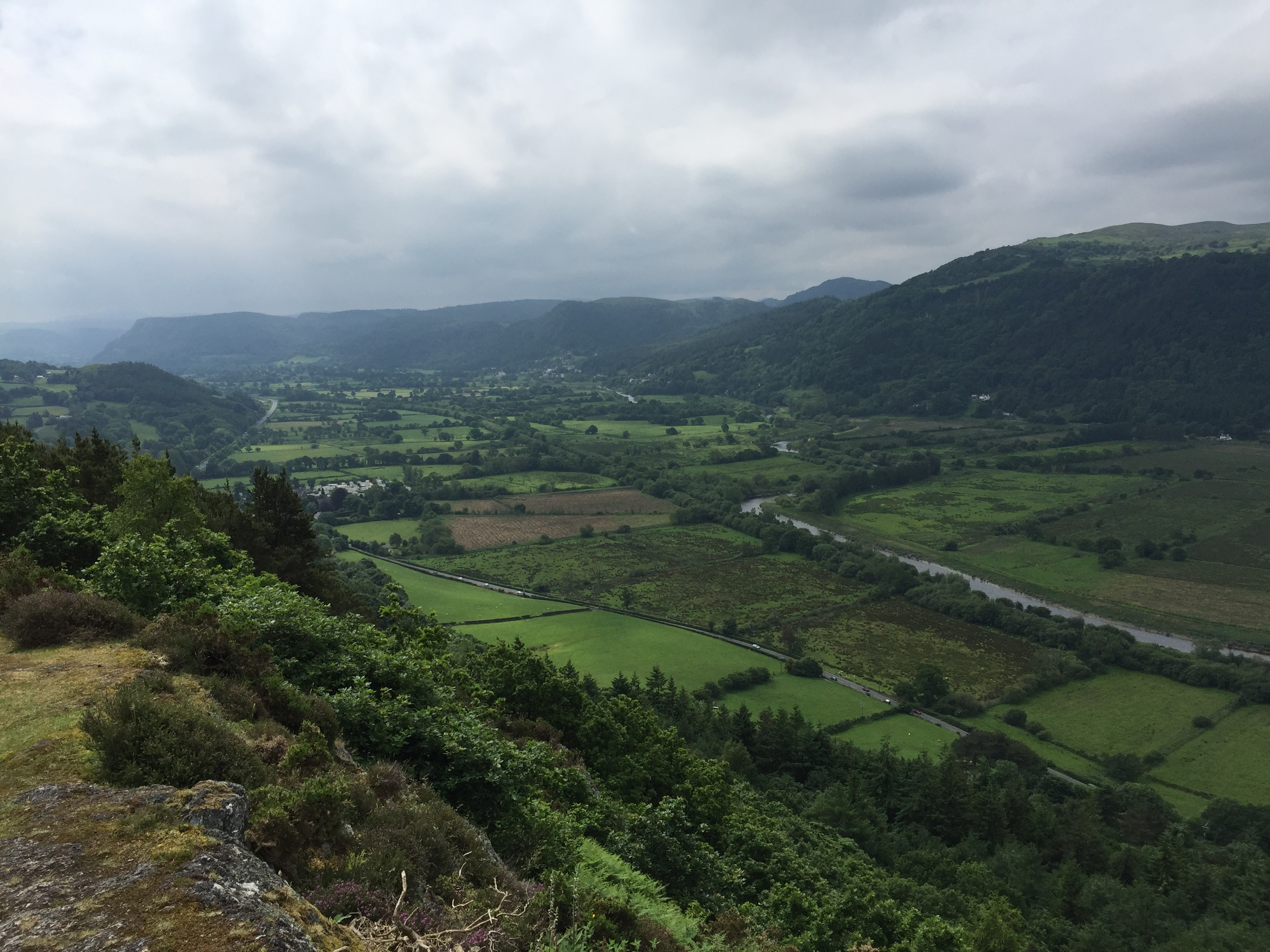 Conwy Valley from Cadair Ifan Goch