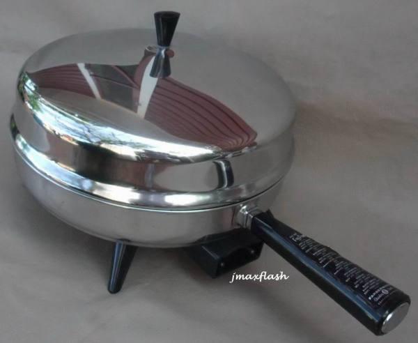 """Vintage 12"""" Stainless Steel Farberware Electric Skillet"""