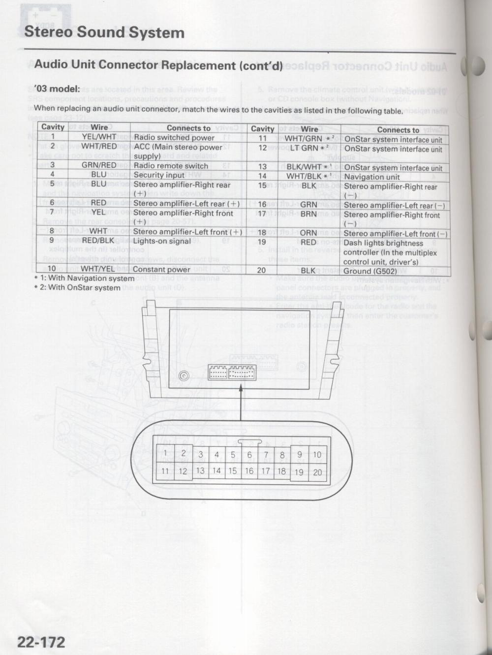 hight resolution of acura mdx stereo wiring diagram wiring library acura mdx 20012006 navigation audio radio wiring diagram schematic